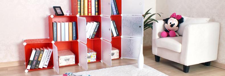 新艺鸿运多功能组合柜定制欧式书柜塑料阶梯门厅柜儿童简易书架子
