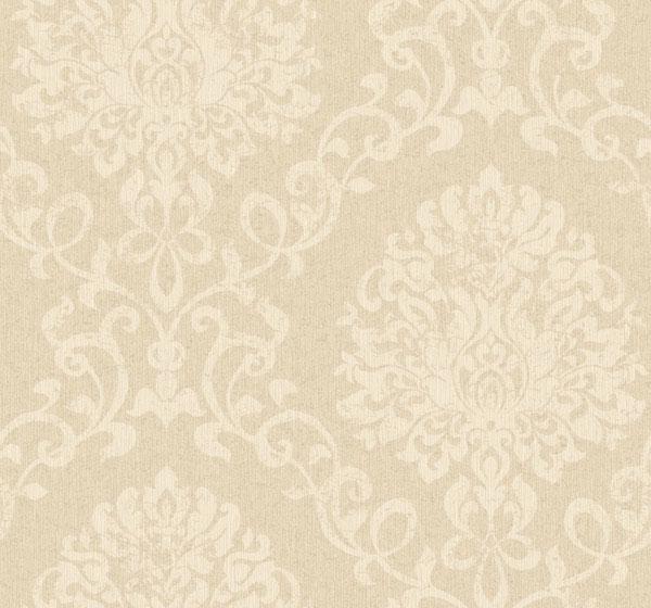 古铜金属拉丝暗花欧式大马士革壁纸图片