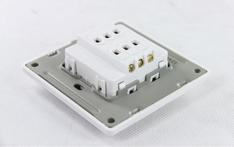 欧普开关面板墙壁插座致美p051622a双开二开双控